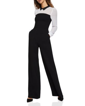 color-block-wide-leg-jumpsuit by bcbgeneration