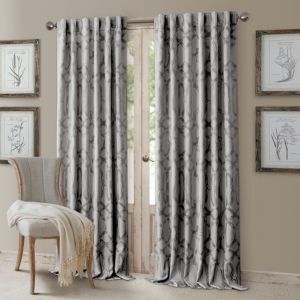 Elrene Home Fashions Darla Geometric Blackout Curtain Panel, 52 x 84