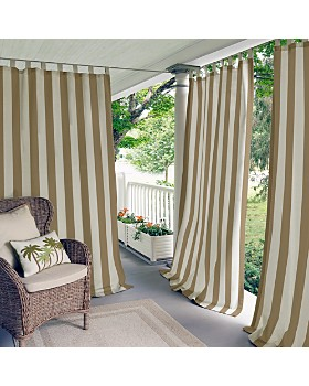 Elrene Home Fashions - Highland Stripe Indoor/Outdoor Curtain Collection