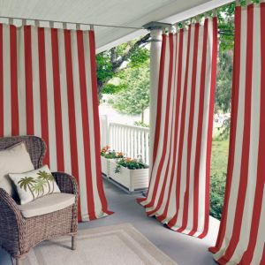 Elrene Home Fashions Highland Stripe Indoor/Outdoor Curtain Panel, 50 x 108