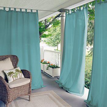 "Elrene Home Fashions - Matine Indoor/Outdoor Window Panel, 52"" x 95"""