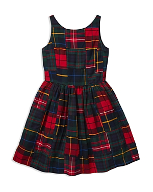 Polo Ralph Lauren Girls' Cotton Patchwork Plaid Dress - Big Kid