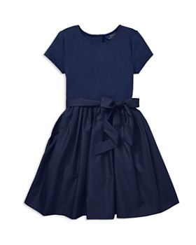 Ralph Lauren - Girls' Taffeta Shirt Dress with Sash - Big Kid