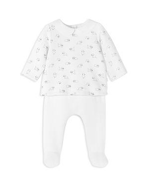 Jacadi Girls' Quilted Kitten-Print Top & Footie Pants Set - Baby
