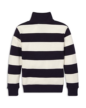 Ralph Lauren - Boys' Supima® Striped Quarter-Zip Shirt - Little Kid