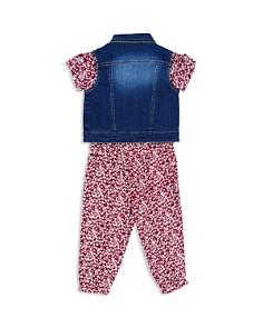 7 For All Mankind - Girls' Denim Vest & Floral Romper Set - Little Kid