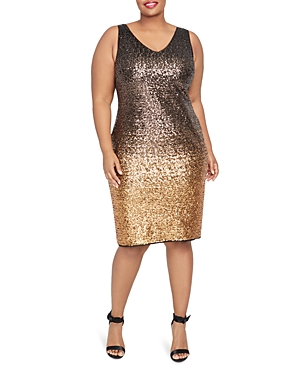 Rachel Roy Plus Karine Ombre Sequined Dress
