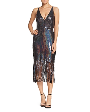 1960s – 70s Cocktail, Party, Prom, Evening Dresses Dress the Population Frankie Sequined Dress AUD 434.52 AT vintagedancer.com