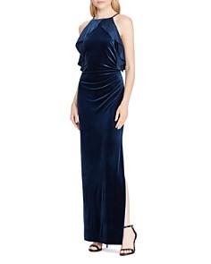 Ralph Lauren - Ruffle-Trimmed Velvet Gown