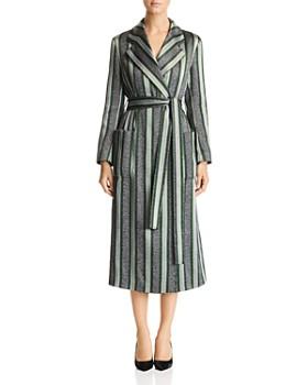Armani - Sparkling Metallic Striped Coat