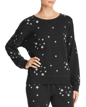 VINTAGE HAVANA Moon-And-Star Cotton Sweatshirt in Black