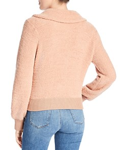 Marled - Textured Knit Bomber Jacket
