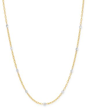 AERODIAMONDS Aerodiamonds 18K Yellow Gold Orbit Diamond Nine Stone Station Necklace, 18, White/Gold