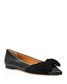 Tory Burch - Women's Eleanor Open Toe Leather Ballet Flats