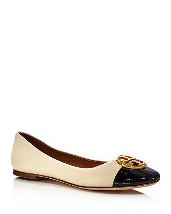 a2c640685 Tory Burch - Women s Chelsea Cap Toe Leather Ballet Flats