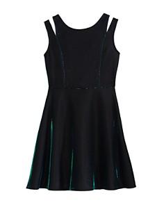 US Angels - Girls' Iridescent Split-Strap Dress - Big Kid