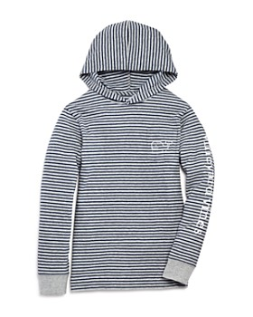 Vineyard Vines - Boys' Striped Whale Hoodie Tee - Little Kid, Big Kid