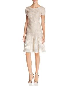 St. John - Sequined Trellis-Knit Dress