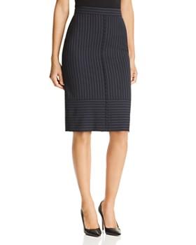 BOSS - Vunka Pinstriped Pencil Skirt