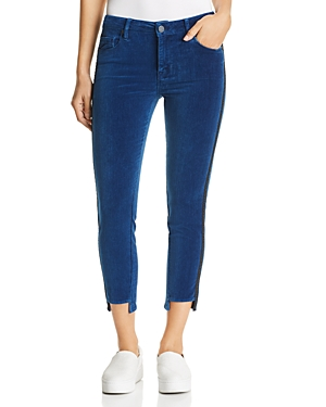 Parker Smith Twisted Tuxedo Cropped Velvet Jeans