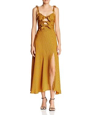 Bec & Bridge Sun Valley Knot-Front Midi Dress