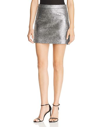 MILLY - Modern Metallic Mini Skirt