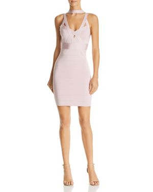 GUESS Mirage Sleeveless Bandage Dress in Rose Smoke Multi