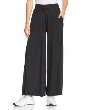 GAIAM X JESSICA BIEL Bleeker Slit Wide-Leg Pants in Black