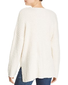 Sadie & Sage - Chunky Ribbed Knit V-Neck Sweater