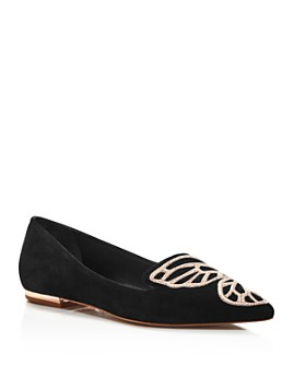 Sophia Webster - Women's Papillon Pointed Toe Suede Flats