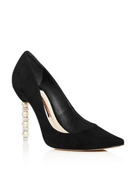 Sophia Webster - Women's Coco Pointed Toe Crystal & Faux Pearl Pumps