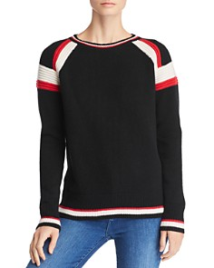 C by Bloomingdale's - Textured Stripe Cashmere Crew Sweater - 100% Exclusive