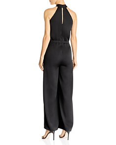 Lucy Paris - Chloe Sleeveless Cross-Neck Jumpsuit
