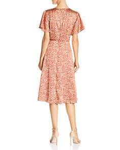 Lucy Paris - Leopard-Print Faux-Wrap Dress