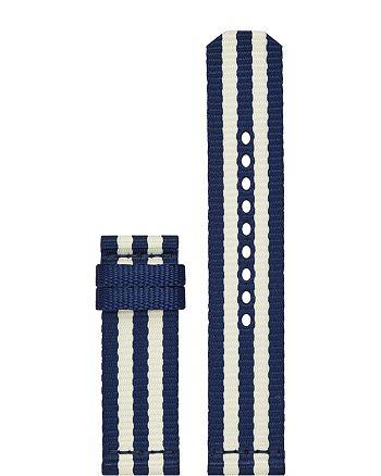 Tory Burch - The Gigi Striped Grosgrain Smartwatch Strap, 20mm