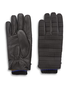 Ted Baker - Avvo Quilted Leather-Contrast Gloves