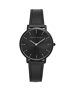 Rebecca Minkoff Major Leather Watch, 35mm