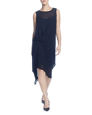 Catherine Catherine Malandrino SLEEVELESS TWIST-FRONT DRESS