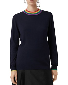 Burberry - Dales Wool Rainbow-Collar Sweater