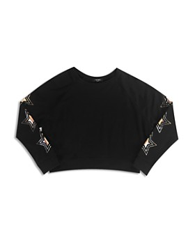Terez - Girls' Metallic Star Sweatshirt - Big Kid