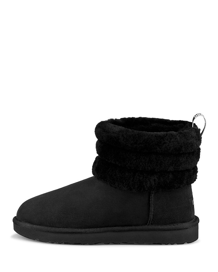 35da4112d22 Women's Fluff Mini Quilted Round Toe Suede & Sheepskin Booties