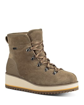 UGG® - Women's Birch Round Toe Suede & Leather Booties