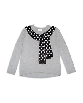 kate spade new york - Girls' Trompe L'Oeil Scarf Sweater - Big Kid