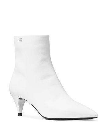 7dcc23edd9b MICHAEL Michael Kors Women's Blaine Leather Flex Kitten Heel Booties ...