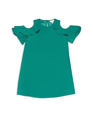 kate spade new york Girls' Cold-Shoulder Ruffle Sleeve Dress - Big Kid