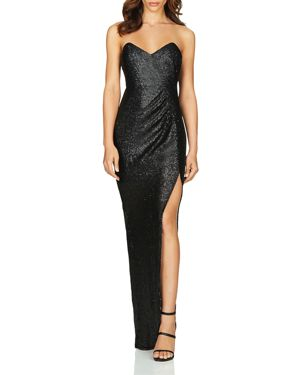 Nookie Adele Strapless Sequined Gown