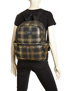 STATE - Kane Metallic Plaid Backpack