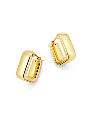 Square Hoop Earrings in 14K Yellow Gold