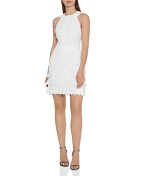 REISS - Flora Feather-Detail Dress