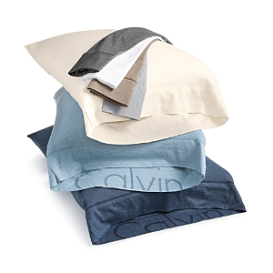 Calvin Klein Modern Cotton Jersey Body Solid Standard Pillowcase, Pair